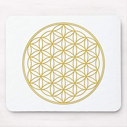 Die Blume des Lebens - Gold - Yoga Mousepad