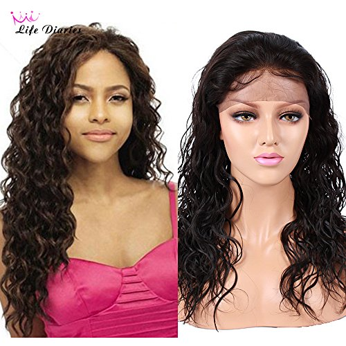 Life Diaries 150% Density Malaysian Curly Glueless Full Lace Wigs 8A Unprocessed Brazilian Virgin Human Hair Wigs Natural Hairline Bleached Knot Free Part (12