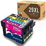 STAROVER 4x Kompatibel Druckerpatrone Ersatz für Epson 29 XL 29XL Tintenpatronen (1 Schwarz + 1 Cyan + 1 Magenta + 1 Gelb) für Epson Expression Home XP-235 XP-245 XP-247 XP-330 XP-332 XP-335 XP-342 XP-345 XP-430 XP-432 XP-435 XP-442 XP-445 Drucker