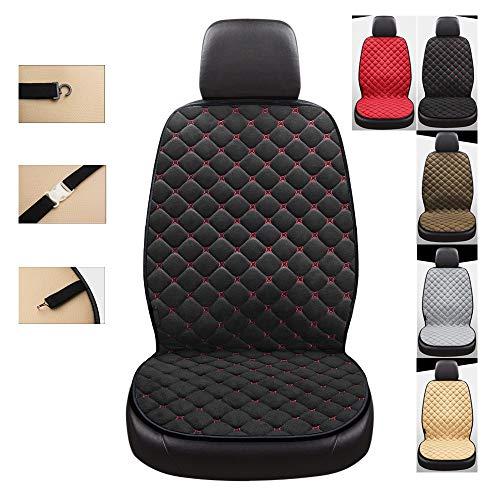 NBSMN Beheiztes Autositzkissen Einzelsitz Heizauflagen Auto Sitzbezüge Erste Reihe 12V/24V Auto Sitzheizung Sitzkisse Intelligente Temperaturregelung (105 × 50 cm) 40 °C-60 °C