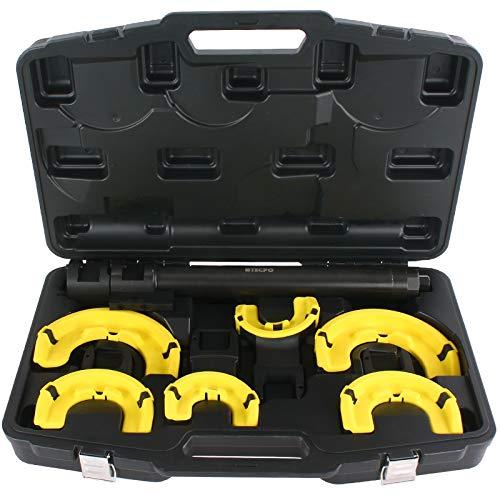 TECPO 300131 Mc-Pherson Federspanner Satz 26.000 Nm Universal KFZ Federbein Werkzeug Set 80-195 Federdurchmesser PROFI Spezialwerkzeug
