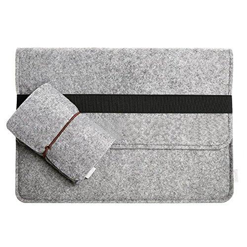 """13-13,3 Zoll Filz Sleeve Hülle Notebook Laptop Tasche für 13""""-13.3"""" Grau"""