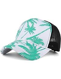 OHQ Sombrero Plano Gorra De BéIsbol De La ImpresióN áRbol Coco Sombrero  Mujeres Sombrero Sombrero Plano 72b8f17dac6