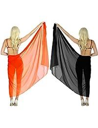Women 2 Pack Beachwear Swimsuit Sarong Ladies Bikini Cover up Swimwear Resort Wrap Plus