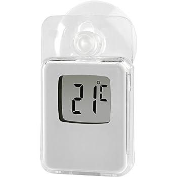 GRUNDIG Aussenthermometer Digital Thermometer wasserdicht mit Saugnapf f/ür Fenster