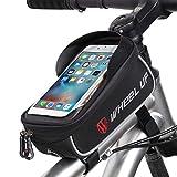 ROTTO Borsa da bici Borse telaio bicicletta Borsa tubo del telefono Sensible Touchscreen Impermeabile