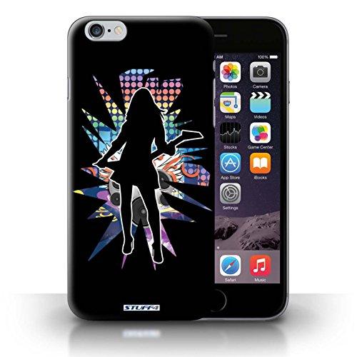 KOBALT® Hülle Case für iPhone 6+/Plus 5.5   Windmill Schwarz Entwurf   Rock Star Pose Kollektion Rock Dame Schwarz
