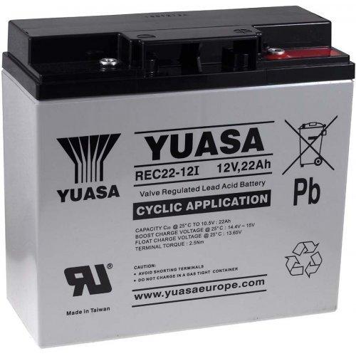Batteria di ricambio yuasa per impianti fotovoltaici macchine pulitrici, sollevatori 12v 22ah resistente ai cicli