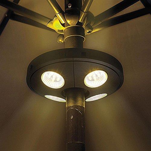 KT-SUPPLY 24 LED Sonnenschirmleuchte Für Terrasse Schwarz