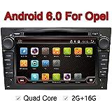 7pulgadas 1024x 600Quad Core Android 6.0Radio estéreo de coche para Opel Vauxhall Astra H, Corsa D Vectra C aatara apoyo unidad principal dvd gps navegación Aux WiFi Cámara de retroceso screenmirror OBD2DAB + (negro)