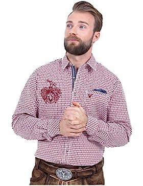 Michaelax-Fashion-Trade Krüger - Herren Trachtenhemd in Rot, Ben (95104-9)