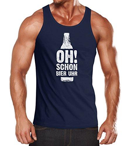 MoonWorks Herren Tanktop Muskelshirt Tank Top Muscle Shirt Achselshirt Navy - Männer Für Bier Tank-tops