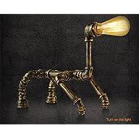 BIUODY Tabella industriale Vintage lampada rustico tubo di acqua di