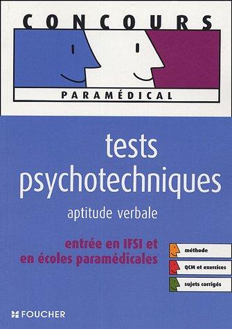 TESTS PSYCHOTECHNIQUES APTITUDE VERBALE (Ancienne édition)