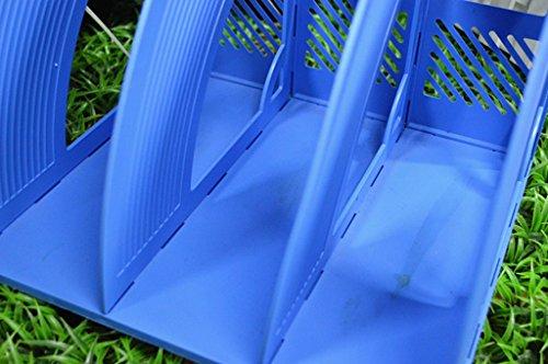 DFHHG® Soporte de libro 255 * 235 * 235mm Archivos Barra de archivo de bastidor Acabado Marco Archivo Caja Azul durable