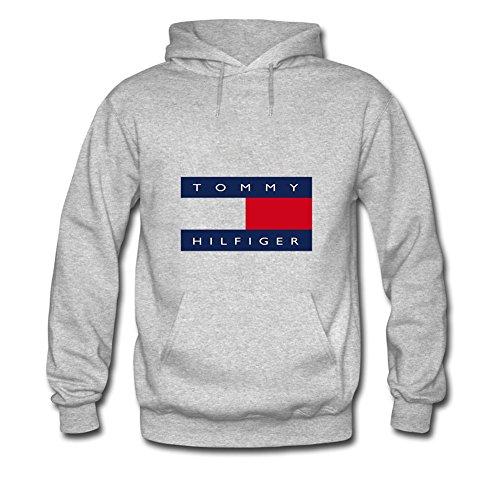Tommy Logo Hilfiger Hoodies -  Felpa con cappuccio  - ragazzo Gray Large