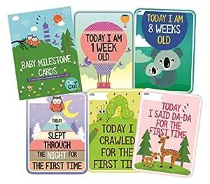 SYGA Set of 27 Multicolor Baby Milestone Cards