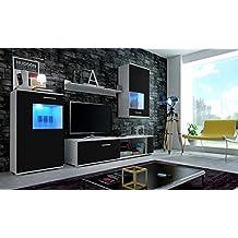 Wohnwand modern schwarz matt  Suchergebnis auf Amazon.de für: wohnwände modern