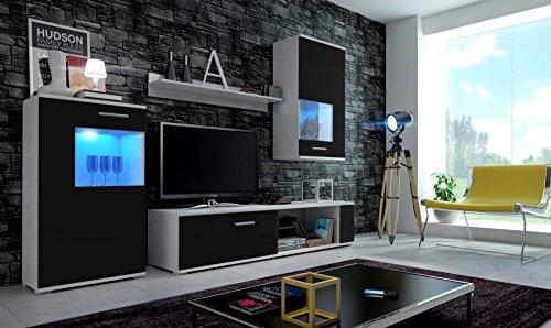 EVE Moderne Wohnwand, Exklusive Mediamöbel, TV-Schrank, Neue Garnitur, Große Farba...