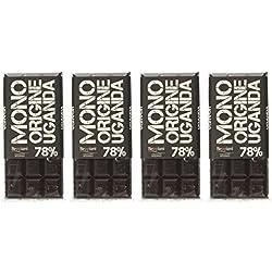 Beppiani, Tavolette di Cioccolato Fondente MONORIGINE - Madagascar, Ecuador, Rep. Dominicana, Uganda - Cioccolato Artigianale - Set da 4