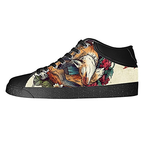 Dalliy Fox Men's Canvas Shoes Lace-up High-top Footwear Sneakers Chaussures de toile Baskets D