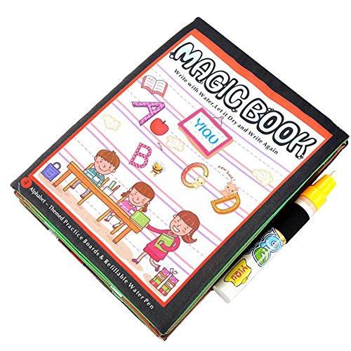 Preisvergleich Produktbild Oyedens Baby-Geschenk-Buch Magische Wasser Zeichnung Malbuch + Doodle Stift Teppich