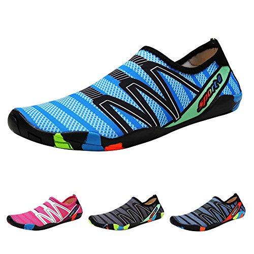 Qimaoo Zapatos de Agua Escarpines Zapatillas Calzado de Playa Descalzo Barefoot Agua Respirable Calcetines para La Aire Libre Buceo Snorkel Piscina de Playa Surf Yoga Acuáticos para Hombre Mujer
