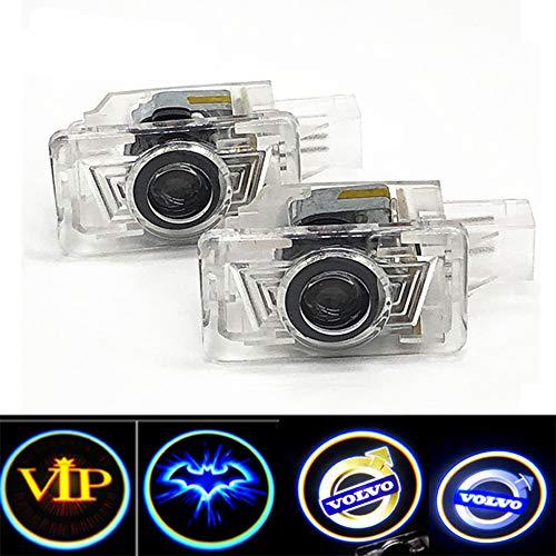 Autotür-LED-Projektionslampe, Auto-Logo-Zeichenlaser-Willkommensleuchte für Türbeleuchtung, für Volvo-Modelle (2 Packungen)