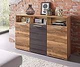 Generic Sideboard Wohnzimmer WOHNWAND Satin NUSSBAUM Darkwood MATT 38125800