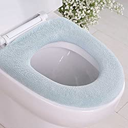Yegu Toilet Seat Cushion Velvet Coral Toilet Seat Lid Cover Mat Super Warm, Random Color