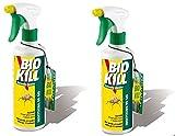 Bio Kill–Insecticide Spray Formule classique 2boîtes de 500ml    efficace contre tous les insectes à sang froid Spray contre mouches     punaises fourmis cafards moustiques