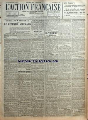 action-francaise-l-39-no-156-du-05-06-1921-de-briand-a-rathenau-ou-le-repentir-allemand-par-leon-daudet-au-milieu-d-39-une-experience-par-j-b-echos-etudiantes-d-39-action-francaise-etudiants-d-39-action-francaise-le-sabotage-de-la-classe-19-par-maurice-pujo-la-politique-i-m-barthou-et-l-39-avenir-ii-l-39-armee-francaise-et-la-traite-iii-contraste-de-deux-peuples-iv-organisons-notre-moral-v-nouvelles-de-la-part-du-combattant-vi-ou-nous-paierons-pour-l-39-allemand-vii