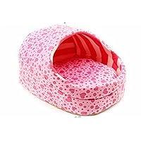 Cdet Cama para mascotas Perro gato perro de animal doméstico en forma de zapatillas - único rosa S