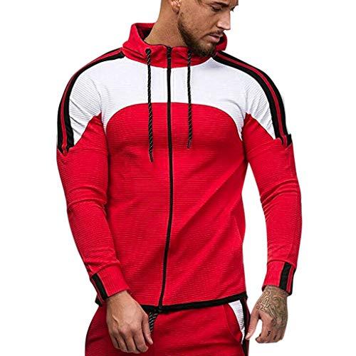 serliyKapuzenpullover Herren | Zip Hoodie für Sport Fitness Training & Freizeit | Trainingsjacke - Sportpullover - Sweatjacke - Kapuzenpulli mit Reißverschluss