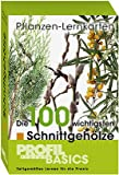 Pflanzen-Lernkarten 100 wichtigsten Schnittgehölze