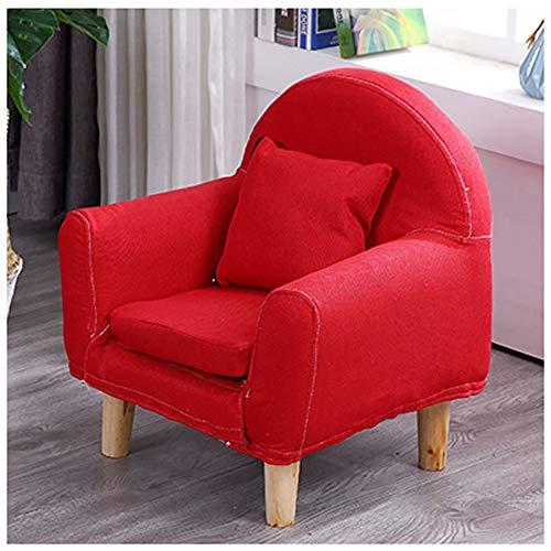 WJH Kinder Sofa,Kinder Sessel Mini Single Möbel Stetigen Haltbarkeit Gemütlich Cute Faul Cartoon Forliving Zimmer Schlafzimmer Indoor-Rot 43x51cm(17x20inch)