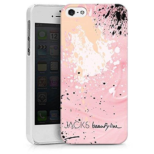 Apple iPhone X Silikon Hülle Case Schutzhülle Farbklecks Muster Bunt Hard Case weiß