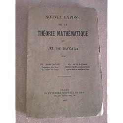 NOUVEL EXPOSE de la THEORIE MATHEMATIQUE du JEU DE BACCARA