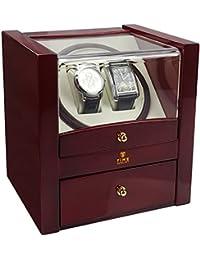 Time Tutelary KA018RD Dual Watch Winder   Colour Red High Gloss