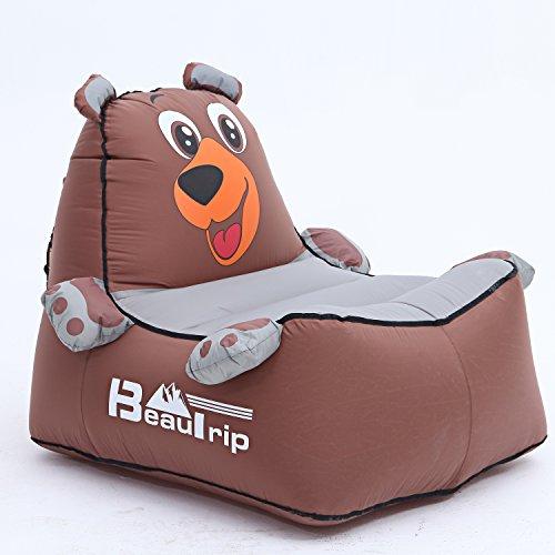 Holen Sie sich einen bequemen Sitz mit BEAUTRIP aufblasbare Liege Outdoor Air Sofa - unglaubliche ergonomische Design aufblasbares matratze - Ideal Camping/Strand Stühle, aufblasbar Luft Hängematte (Camping-stuhl Hängematte)