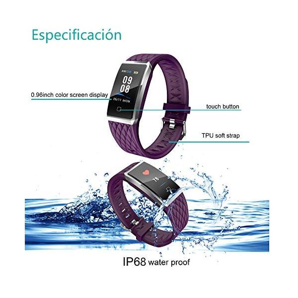 Willful Pulsera Actividad, Impermeable IP68 Pulsera Inteligente con Pulsómetro, Reloj Inteligente para Deporte… 2