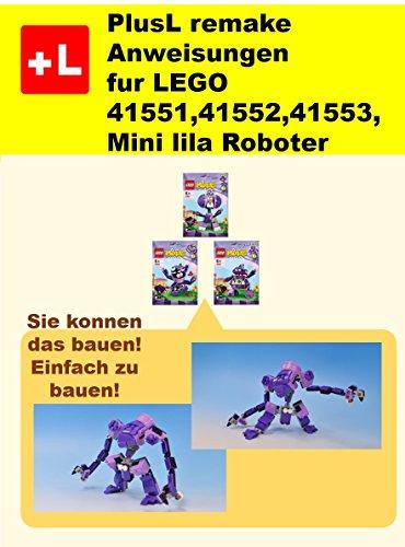PlusL remake Anweisungen fur LEGO 41551,41552,41553 Mini lila Roboter: Sie konnen die Mini lila Roboter aus Ihren eigenen Steinen zu bauen!