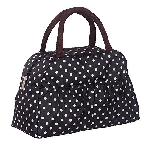 Fortuning's JDS® Le donne della moda multicolore borsa borsa tote stampato punti neri
