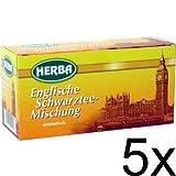 5er Pack Herba Englische Schwarztee-Mischung (5 x 20 x 1,5g)