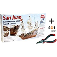 Artesania Latina 18022. Maqueta de barco en madera. Galeon Español San Juan. Escala 1/30 + Multiherramienta 4 en 1