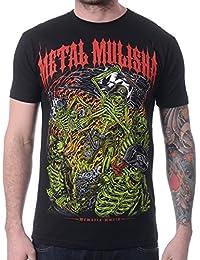 Camiseta Metal Mulisha Mayhem Hand Drawn Negro-rojo
