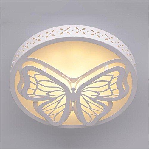 TOYM- Blanco De Moda Moderna Tridimensional Mariposa Lámpara De Techo De Diseño Pequeño Dormitorio Estudio De Pasillo De Pasillo De Balcón Cocina Y Baño Lámparas ( Color : Blanco cálido )