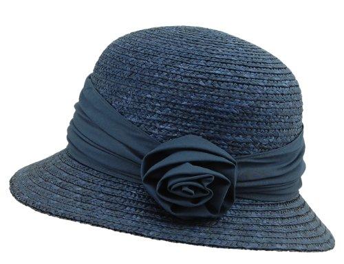 enhut Damenstrohhut Blau (Tinte 68) Medium (Herstellergröße: Orig) ()