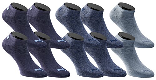 PUMA Sneakers Socken Sportsocken 10er Pack Unisex - Denim Blue - Gr. 39-42