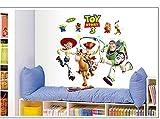 Kibi Stickers Muraux Toy Story Planche de Stickers Muraux Stickers Muraux Enfants Toy Story Stickers Muraux Chambre Bébé